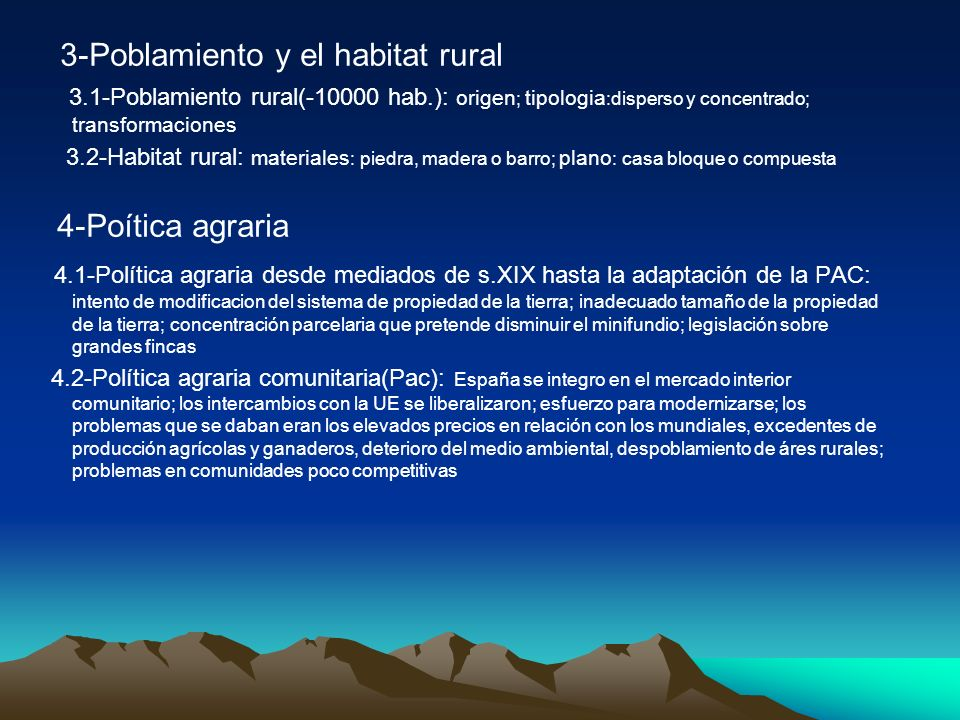 3-Poblamiento y el habitat rural