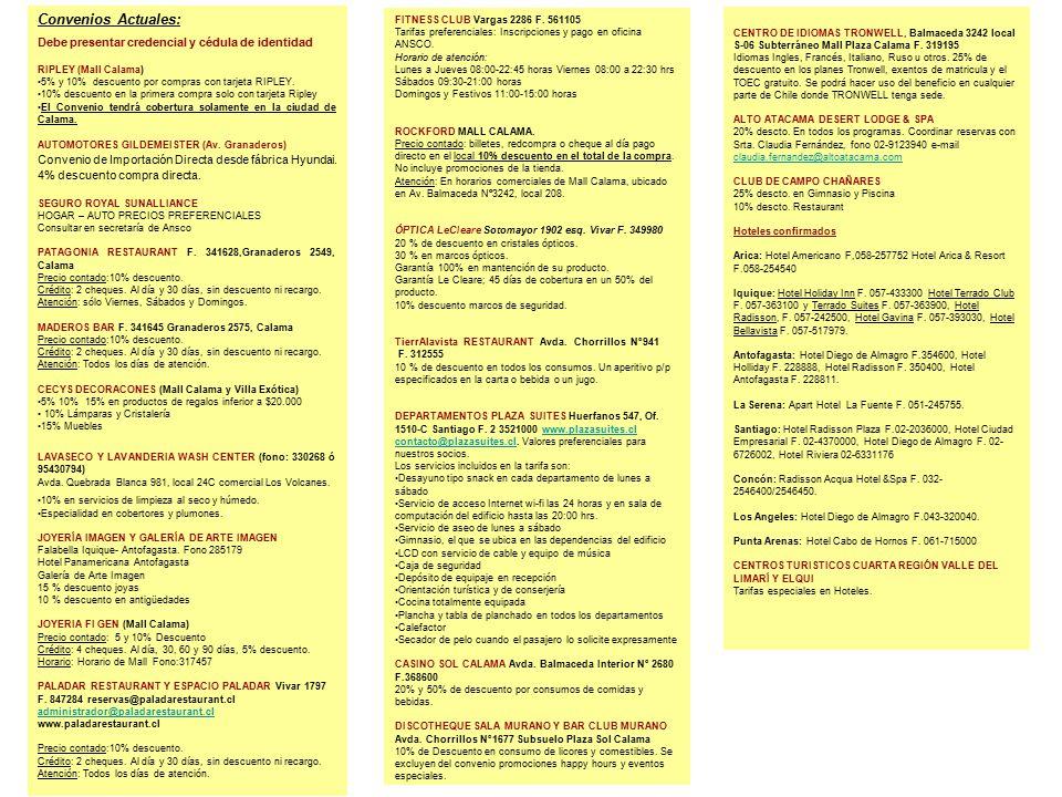 Convenios actuales debe presentar credencial y c dula de for Muebles bandera vivar catalogo