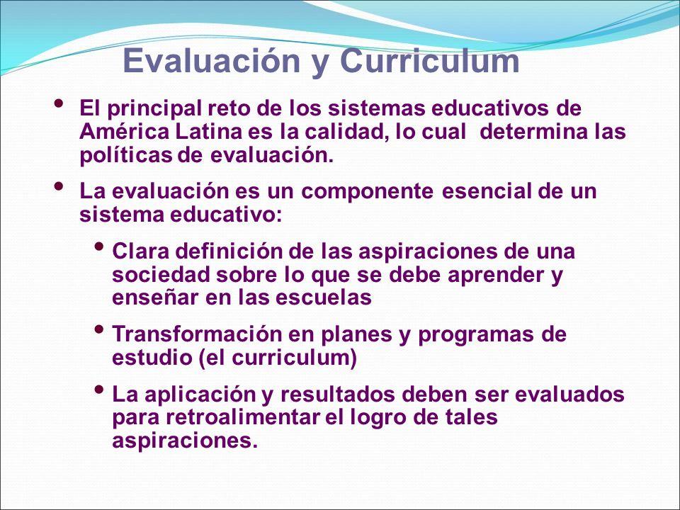 Evaluación y Curriculum
