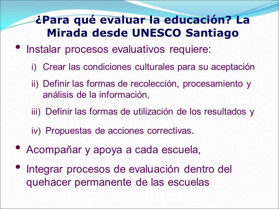 ¿Para qué evaluar la educación La Mirada desde UNESCO Santiago