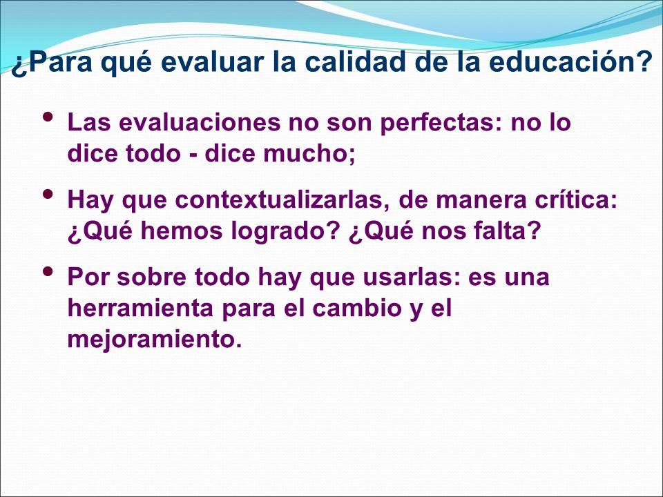 ¿Para qué evaluar la calidad de la educación