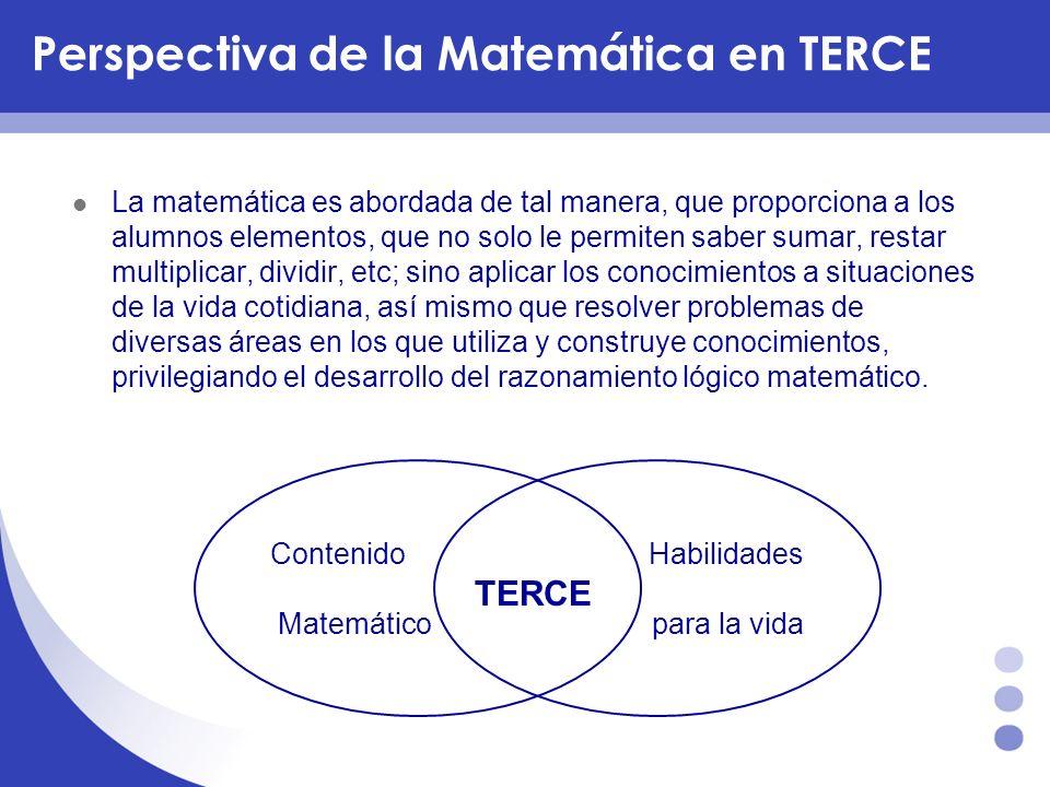 Perspectiva de la Matemática en TERCE