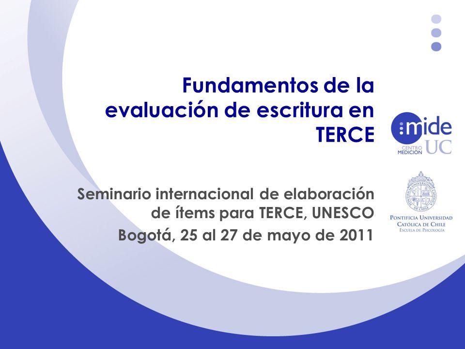Fundamentos de la evaluación de escritura en TERCE
