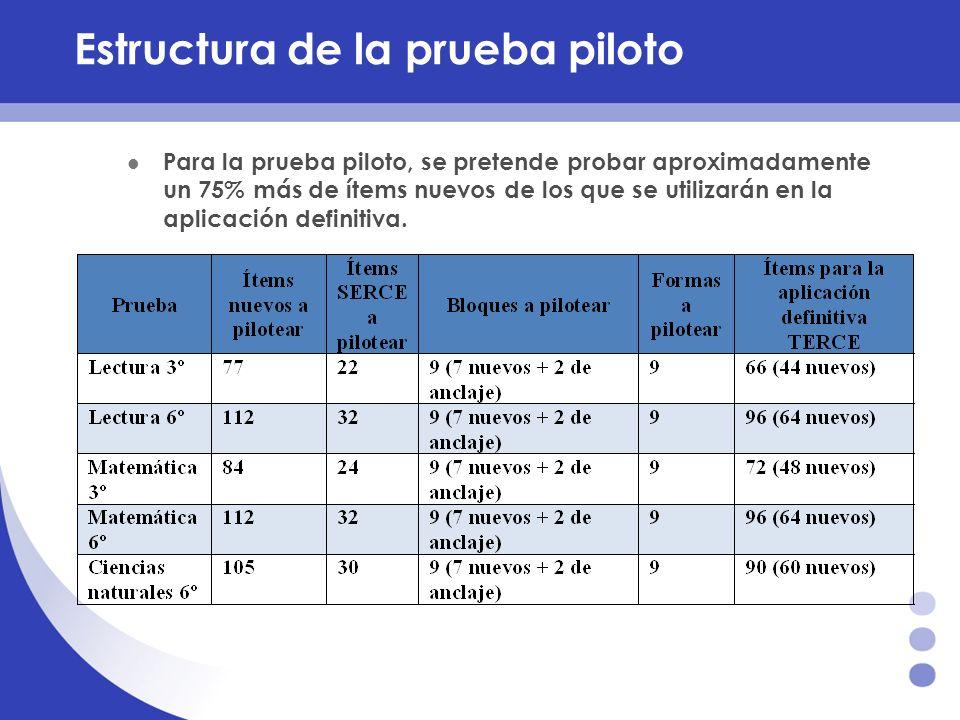 Estructura de la prueba piloto