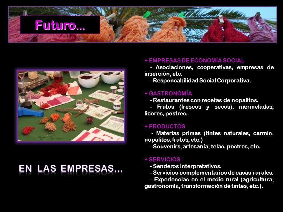 Futuro… EN LAS EMPRESAS… + EMPRESAS DE ECONOMÍA SOCIAL