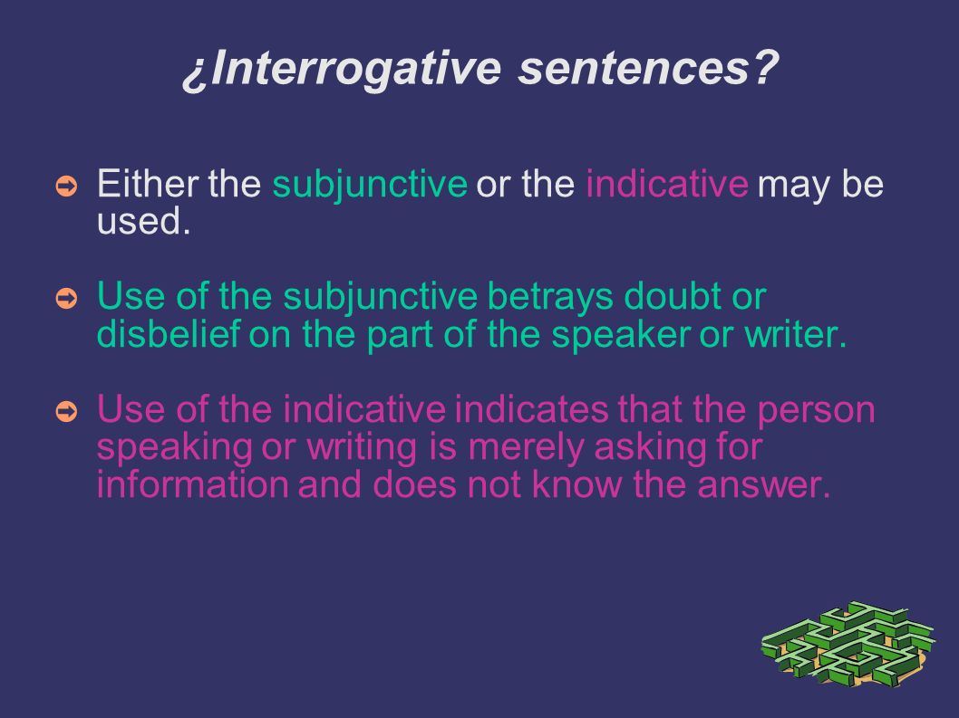 ¿Interrogative sentences