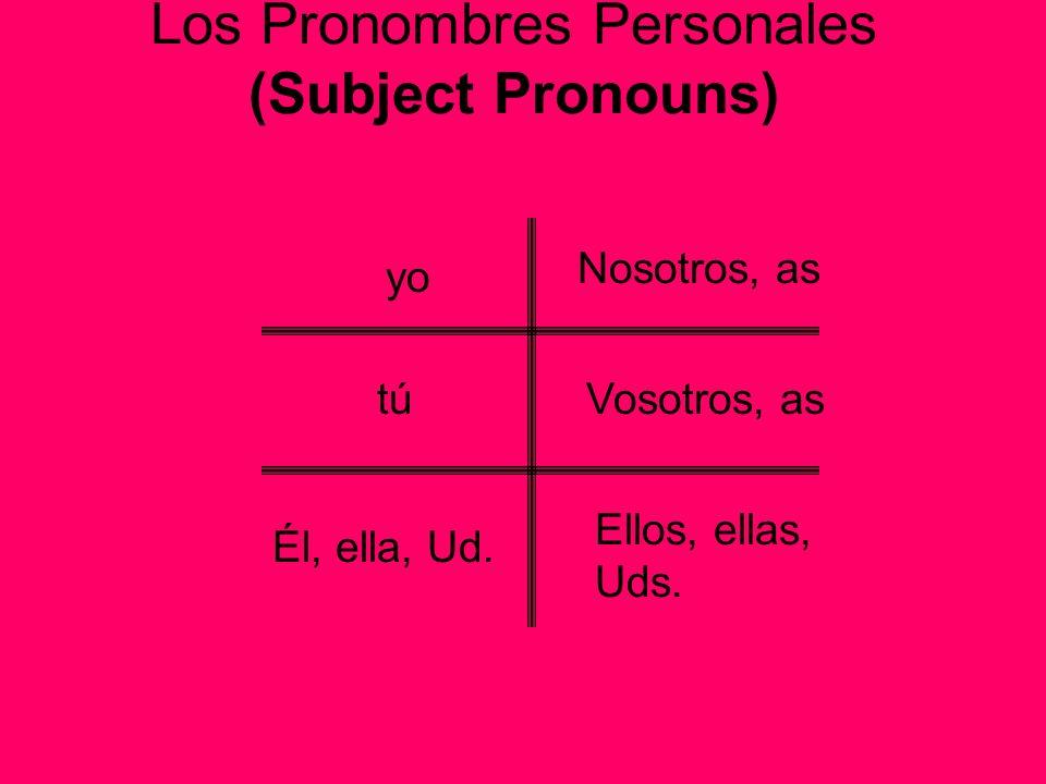 Los Pronombres Personales (Subject Pronouns)