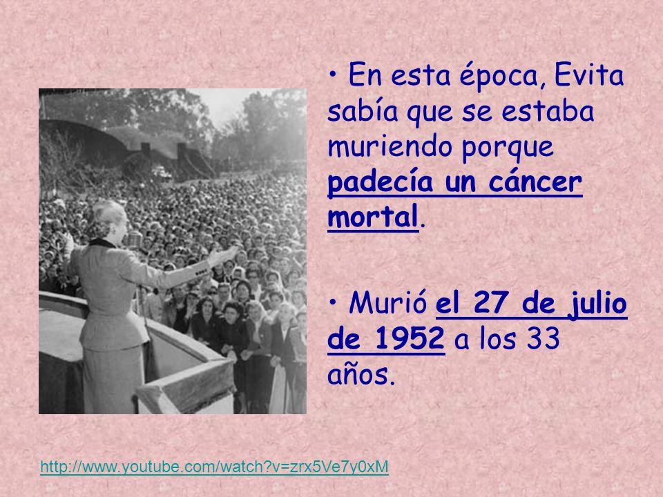 Murió el 27 de julio de 1952 a los 33 años.