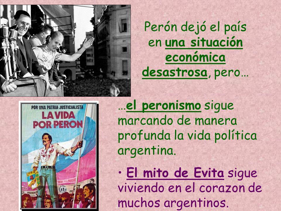 Perón dejó el país en una situación económica desastrosa, pero…