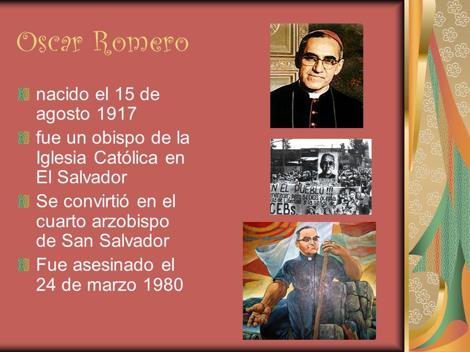 Oscar Romero nacido el 15 de agosto 1917