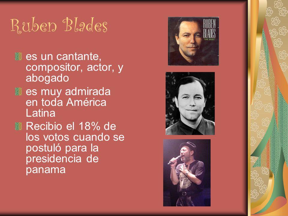 Ruben Blades es un cantante, compositor, actor, y abogado