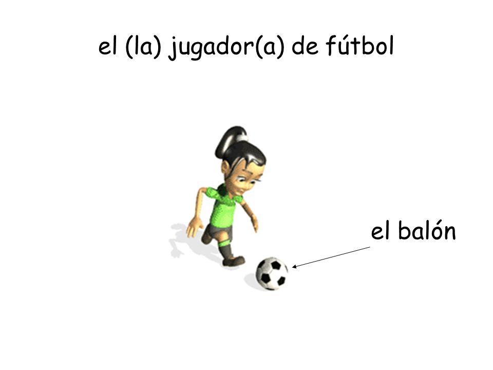 el (la) jugador(a) de fútbol