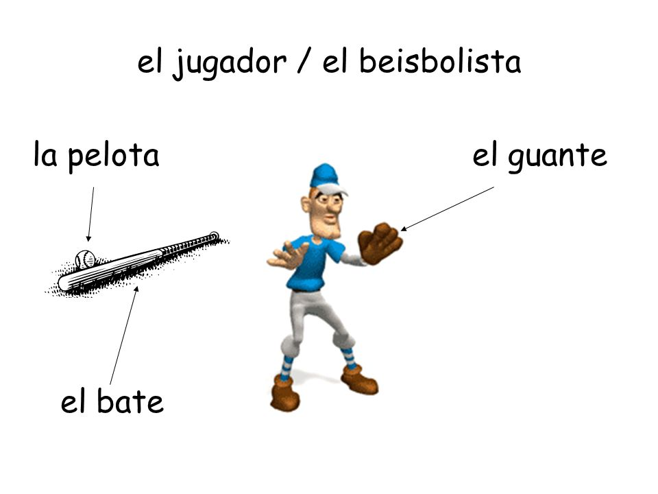 el jugador / el beisbolista