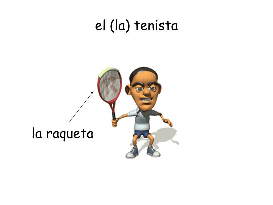 el (la) tenista la raqueta