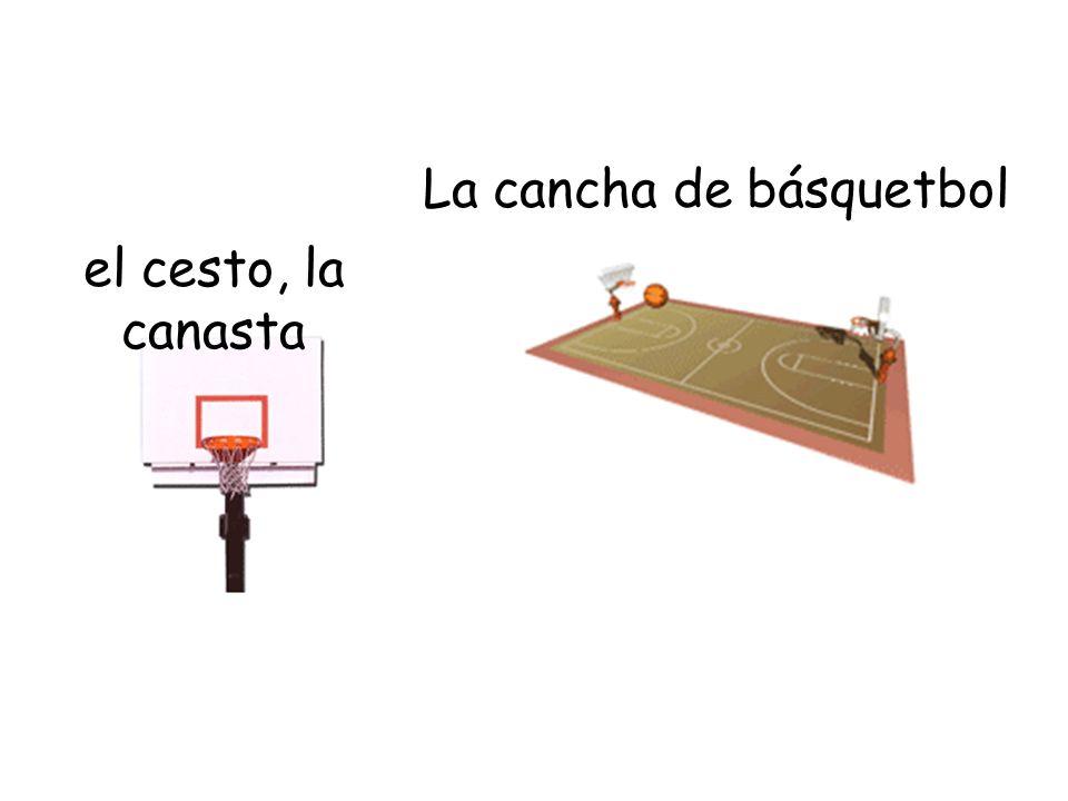 La cancha de básquetbol