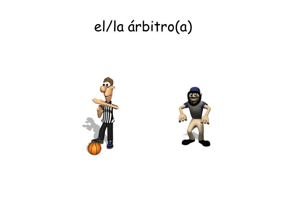 el/la árbitro(a)