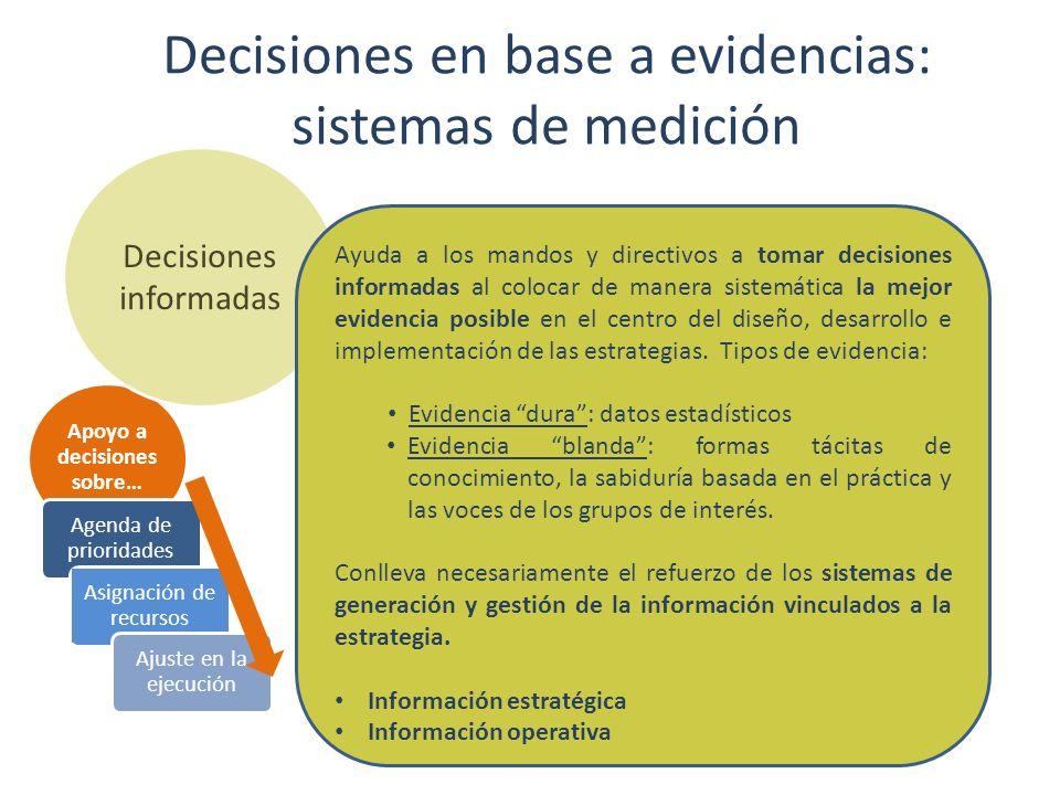 Decisiones en base a evidencias: sistemas de medición