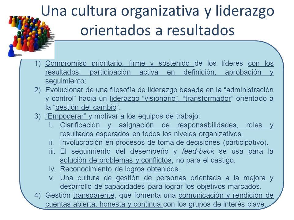 Una cultura organizativa y liderazgo orientados a resultados