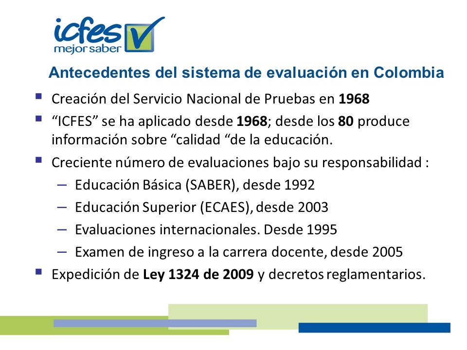Antecedentes del sistema de evaluación en Colombia