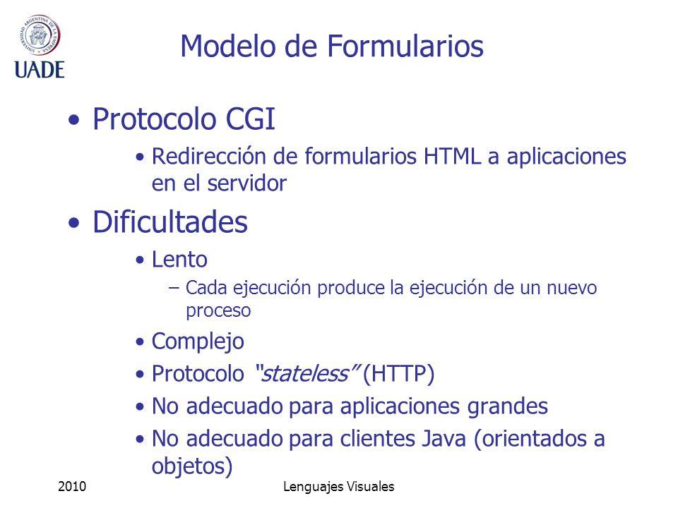 Modelo de Formularios Protocolo CGI Dificultades