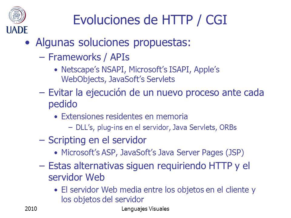 Evoluciones de HTTP / CGI