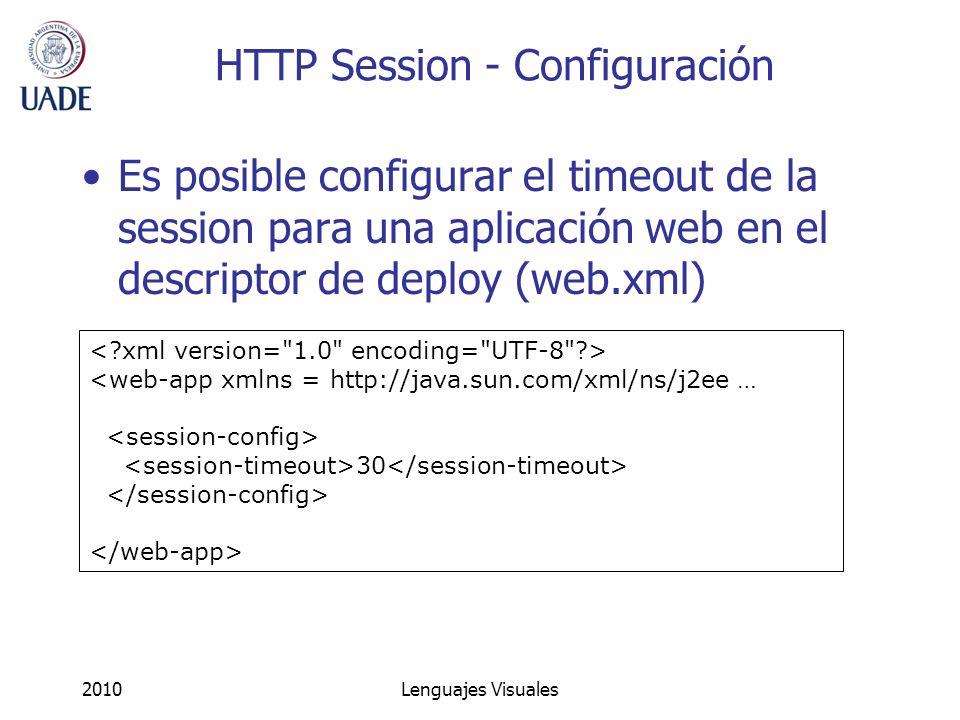 HTTP Session - Configuración