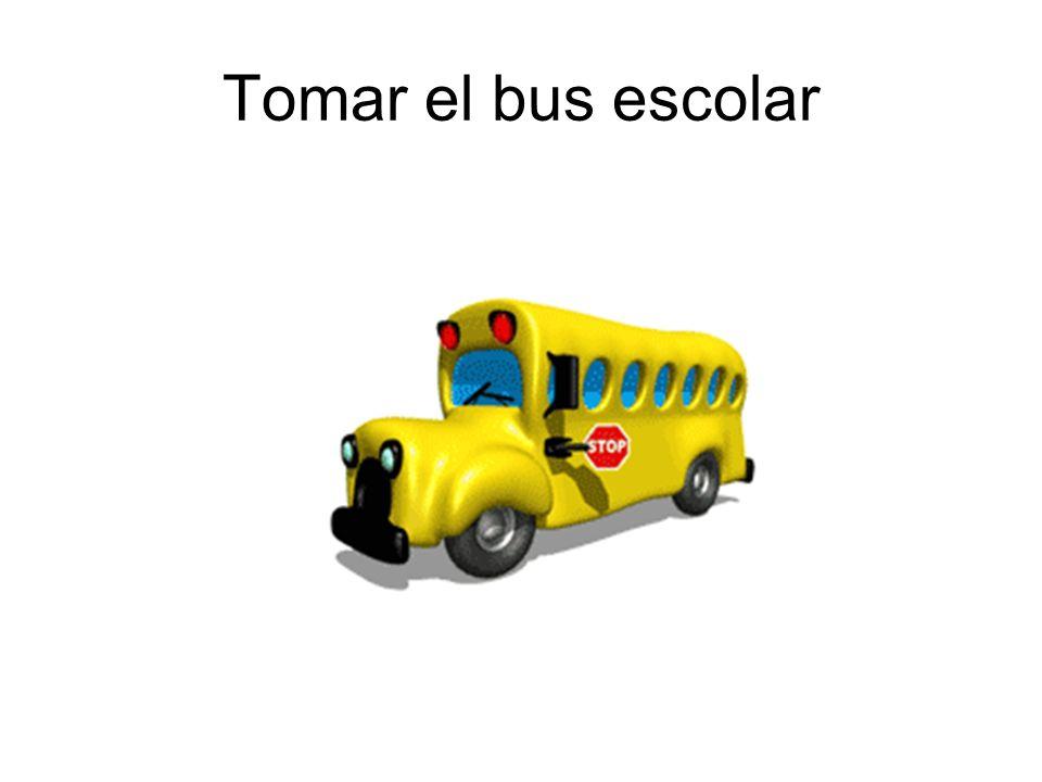 Tomar el bus escolar