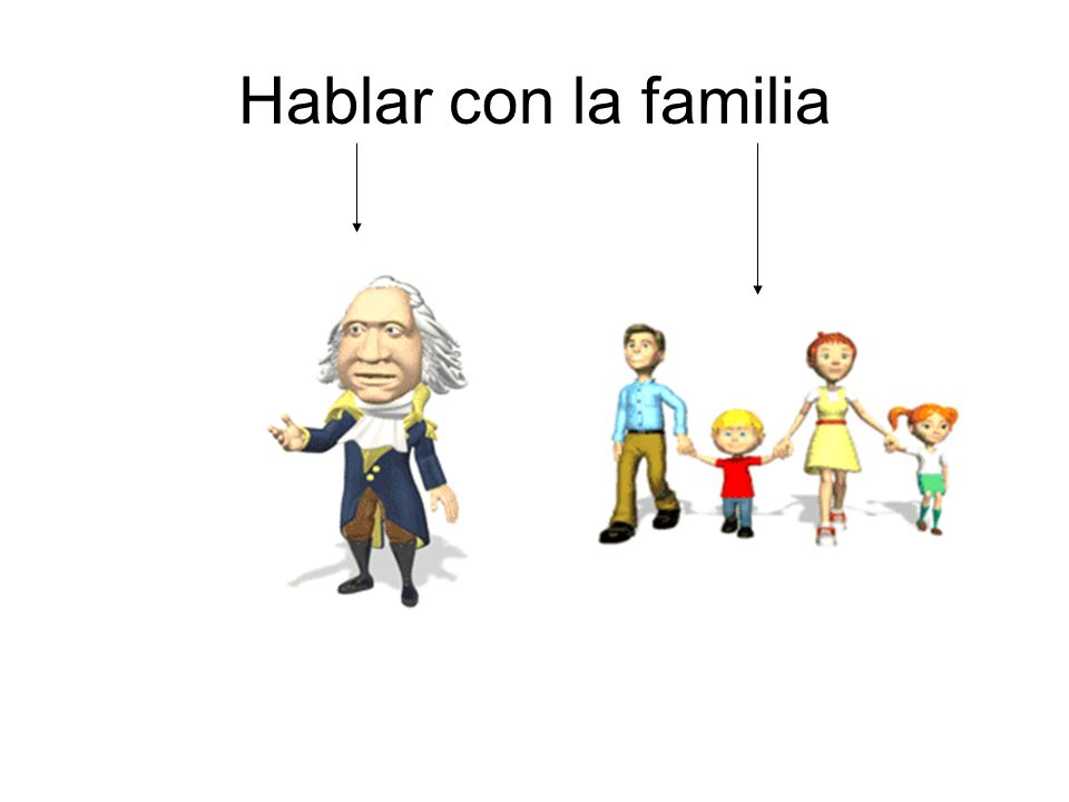 Hablar con la familia