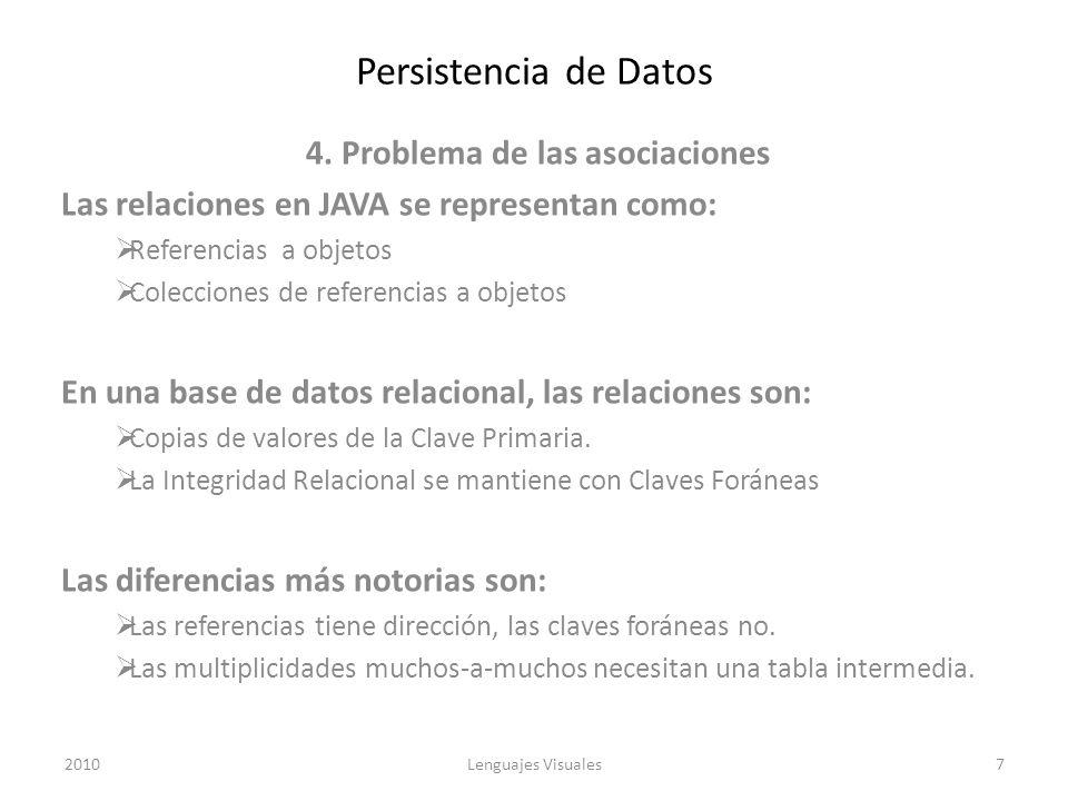 4. Problema de las asociaciones