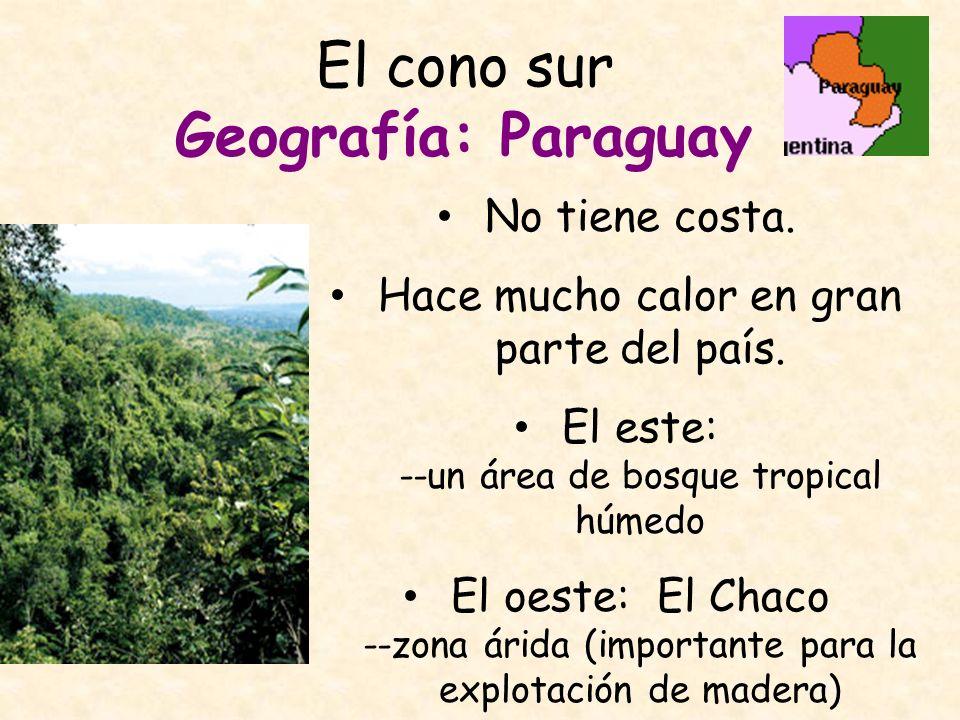 El cono sur Geografía: Paraguay