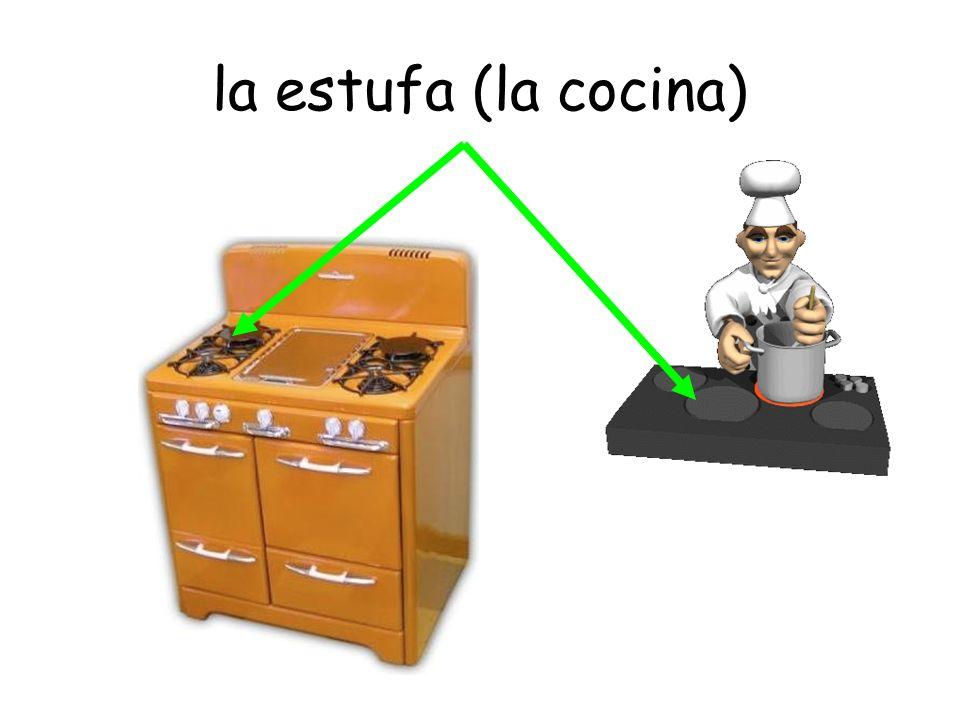 la estufa (la cocina)