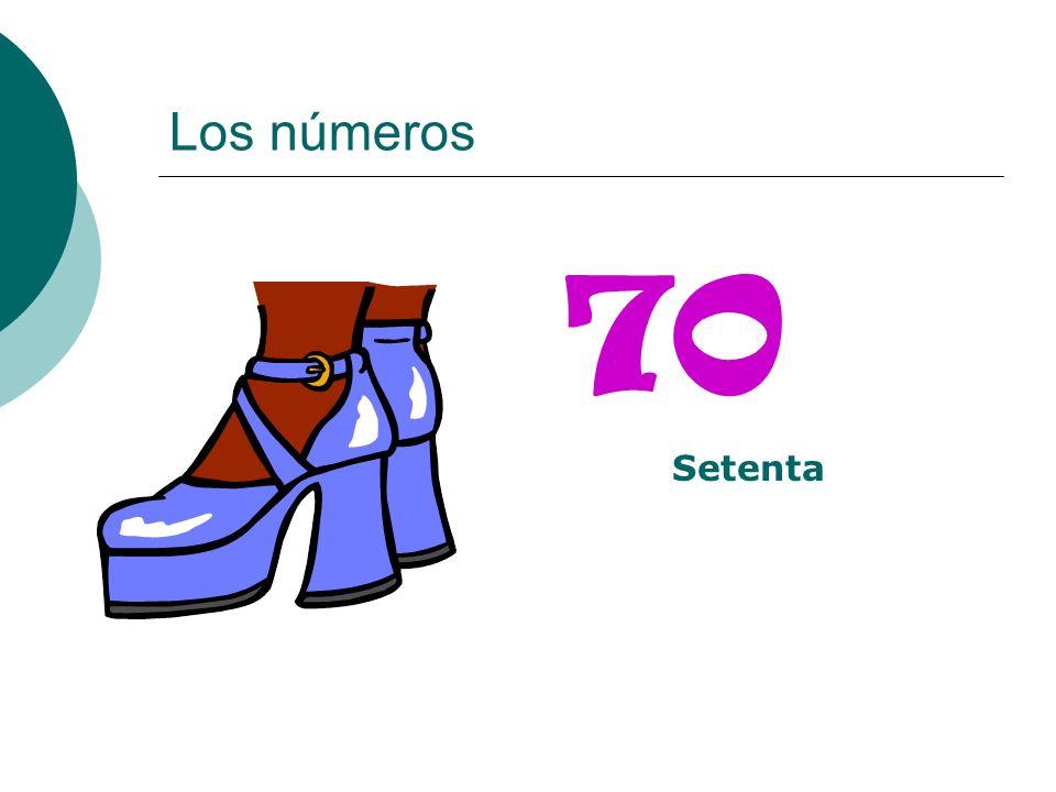 Los números 70 Setenta