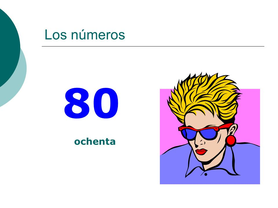Los números 80 ochenta