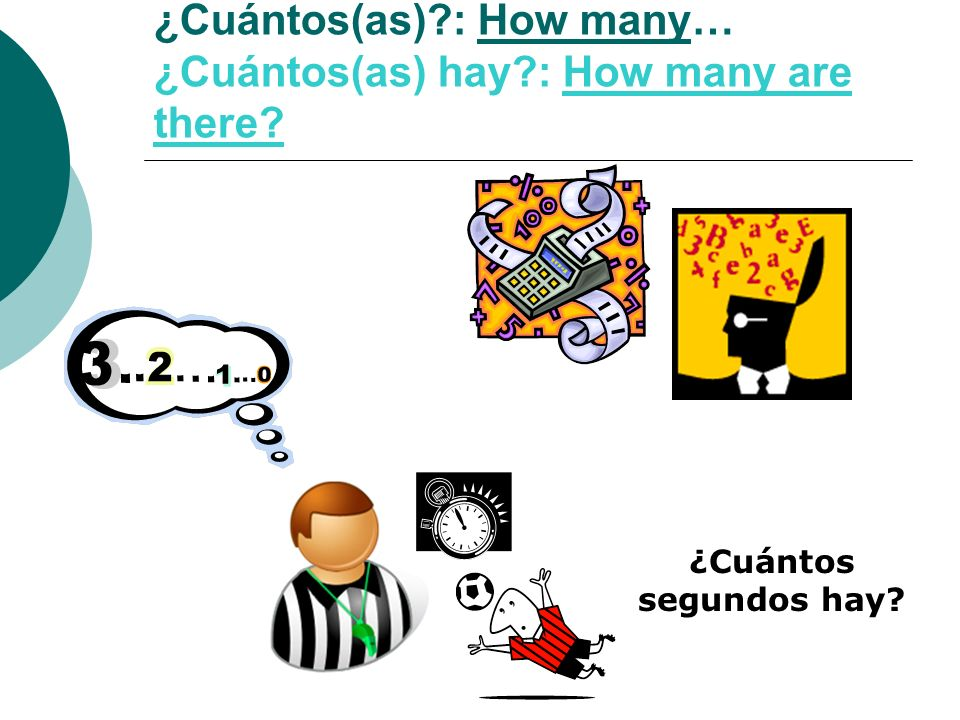 ¿Cuántos(as) : How many… ¿Cuántos(as) hay : How many are there
