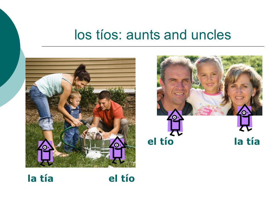 los tíos: aunts and uncles