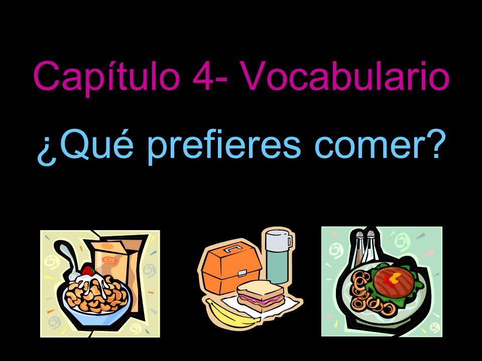 Capítulo 4- Vocabulario