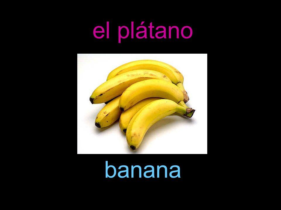 el plátano banana