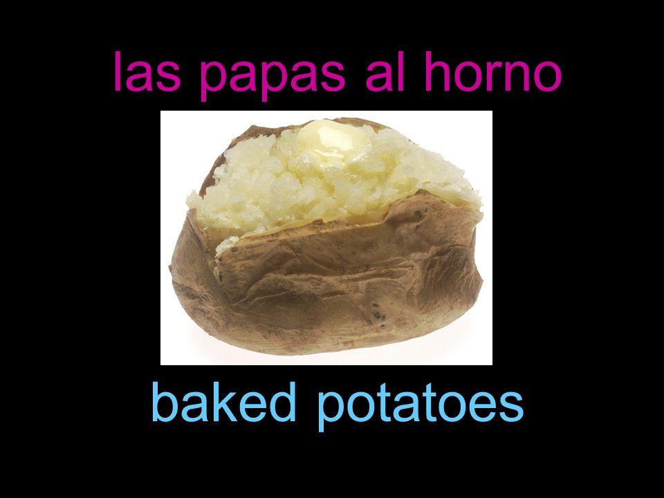 las papas al horno baked potatoes