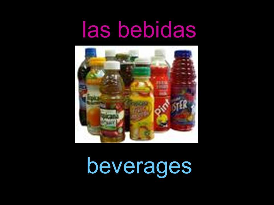 las bebidas beverages
