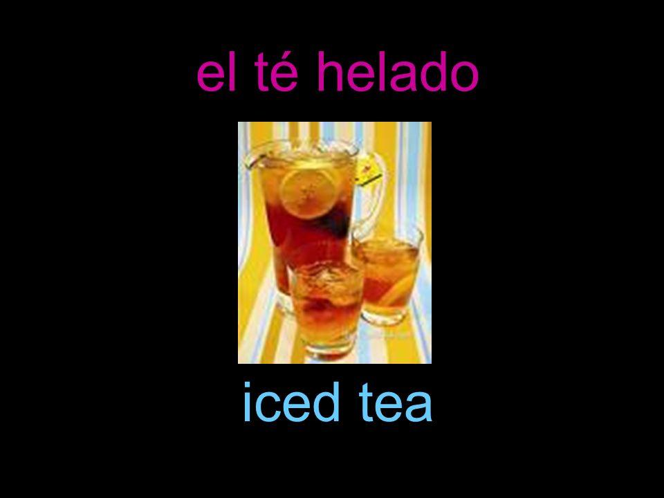 el té helado iced tea