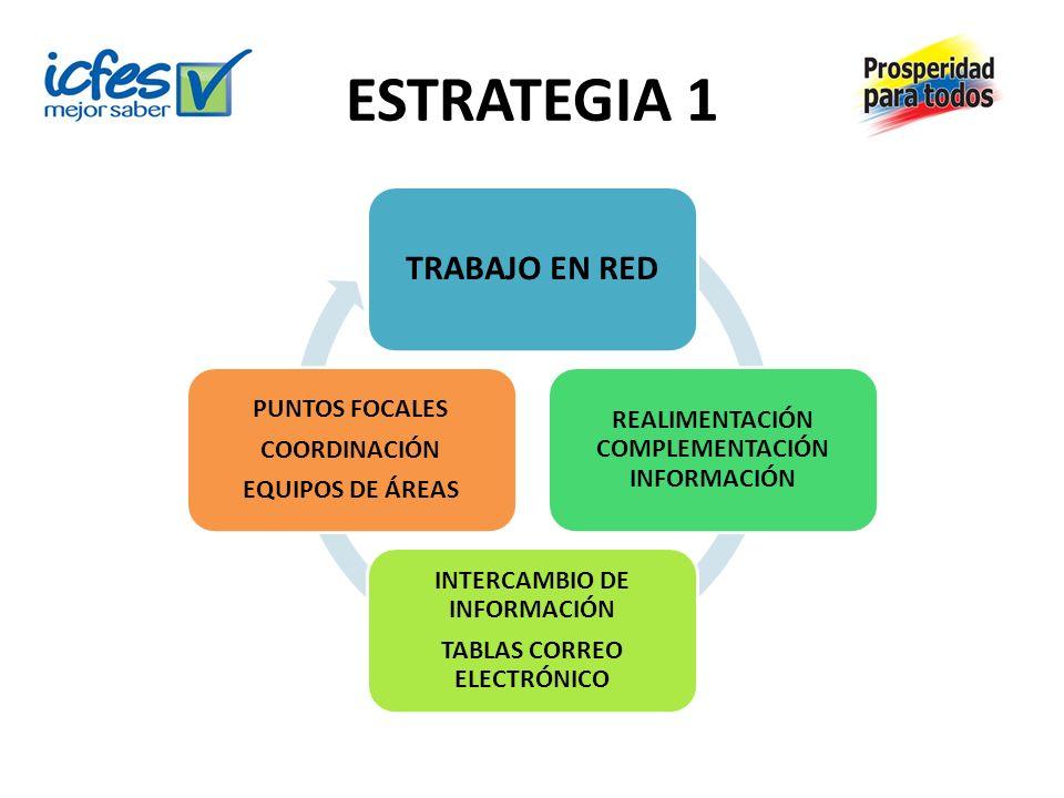 ESTRATEGIA 1 TRABAJO EN RED REALIMENTACIÓN COMPLEMENTACIÓN INFORMACIÓN
