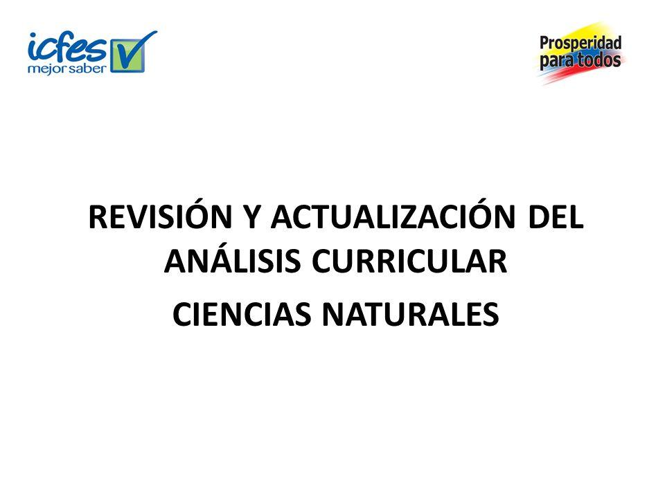 REVISIÓN Y ACTUALIZACIÓN DEL ANÁLISIS CURRICULAR