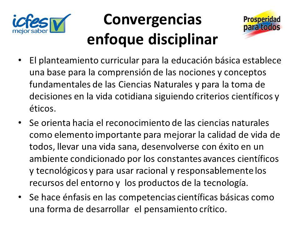 Convergencias enfoque disciplinar