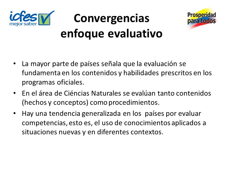 Convergencias enfoque evaluativo