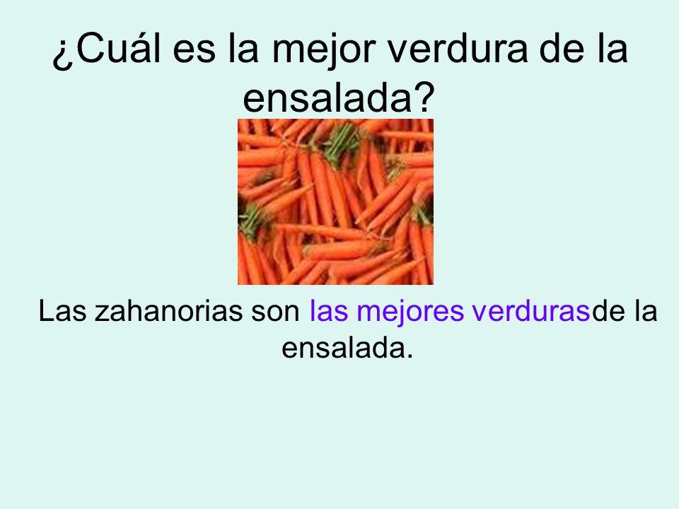 ¿Cuál es la mejor verdura de la ensalada