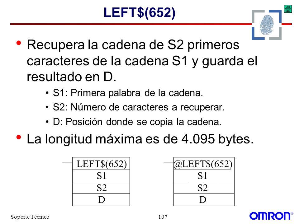 La longitud máxima es de 4.095 bytes.
