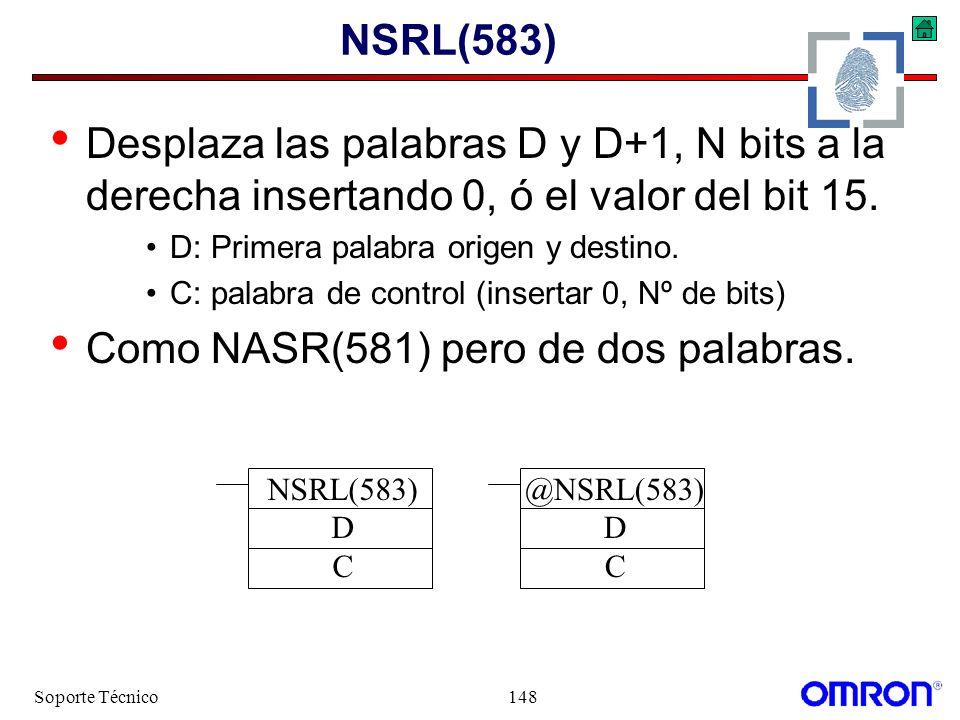Como NASR(581) pero de dos palabras.