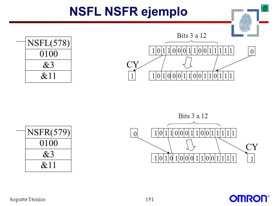 NSFL NSFR ejemplo NSFL(578) 0100 &3 &11 CY NSFR(579) 0100 &3 CY &11