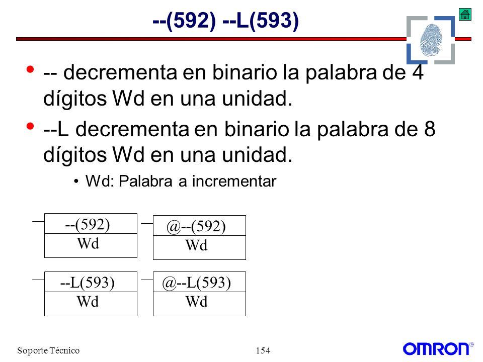 -- decrementa en binario la palabra de 4 dígitos Wd en una unidad.