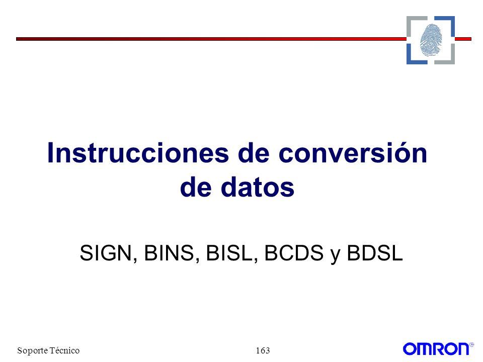 Instrucciones de conversión de datos
